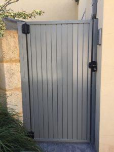 Classic Picket Gate - Vertical Slat PA Gate with Intercom (Windspray 5mm gaps)