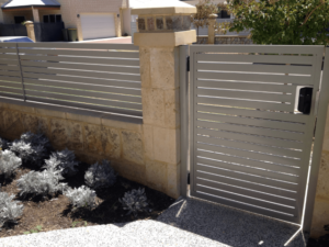 aluminum slat fence