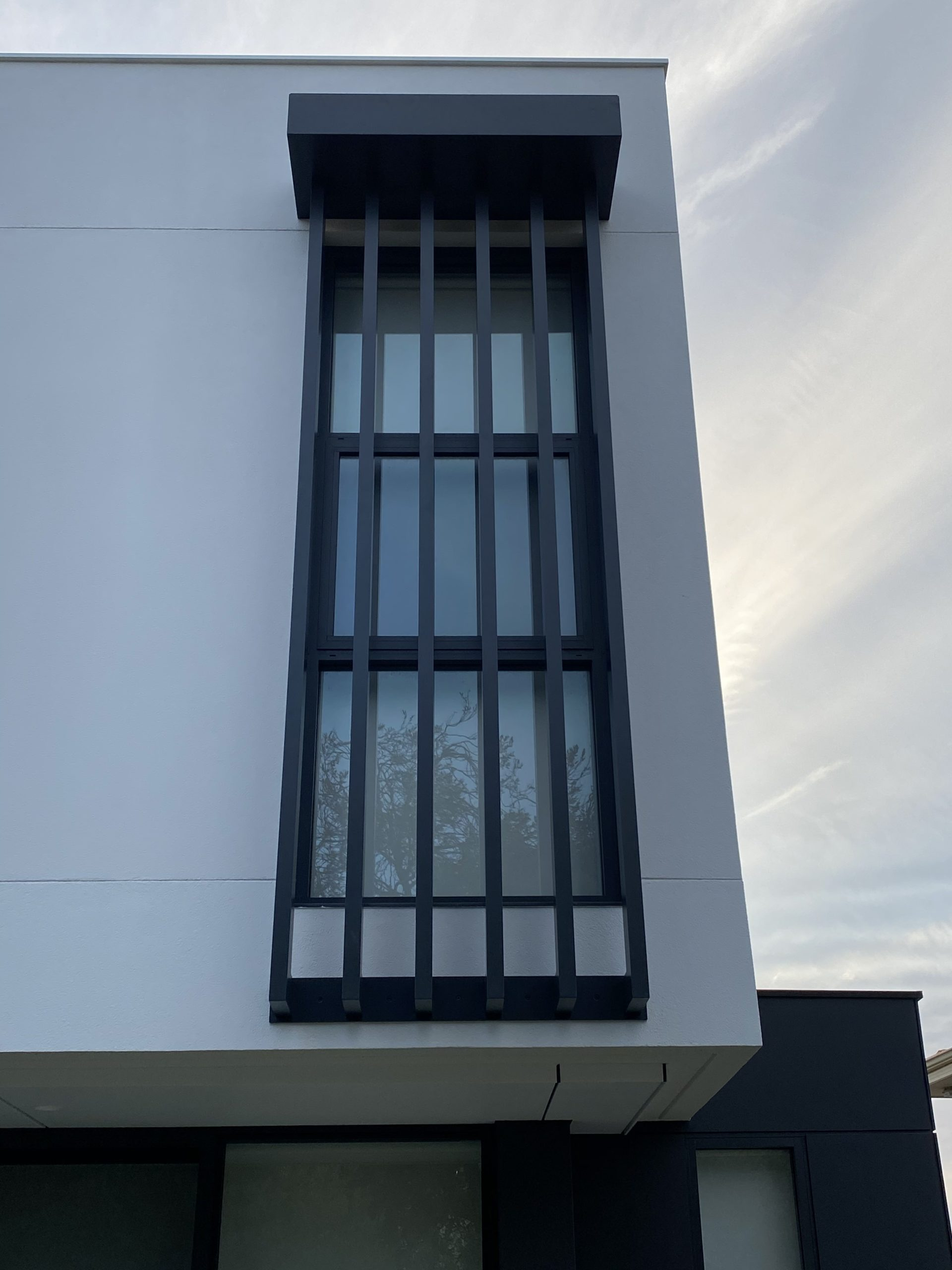 blade fence - black - window - awning - side
