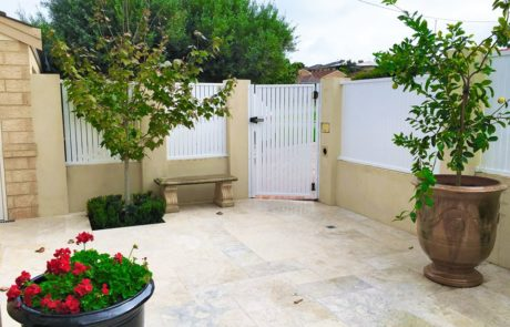 Picket infill fencing - Pedestrian Gate - White Classic 1