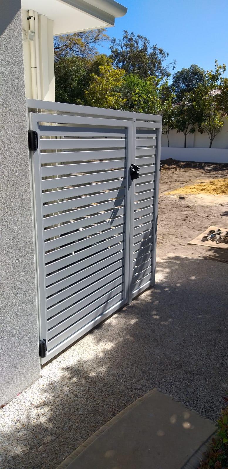 Pool pump and Aircon enclosure -side