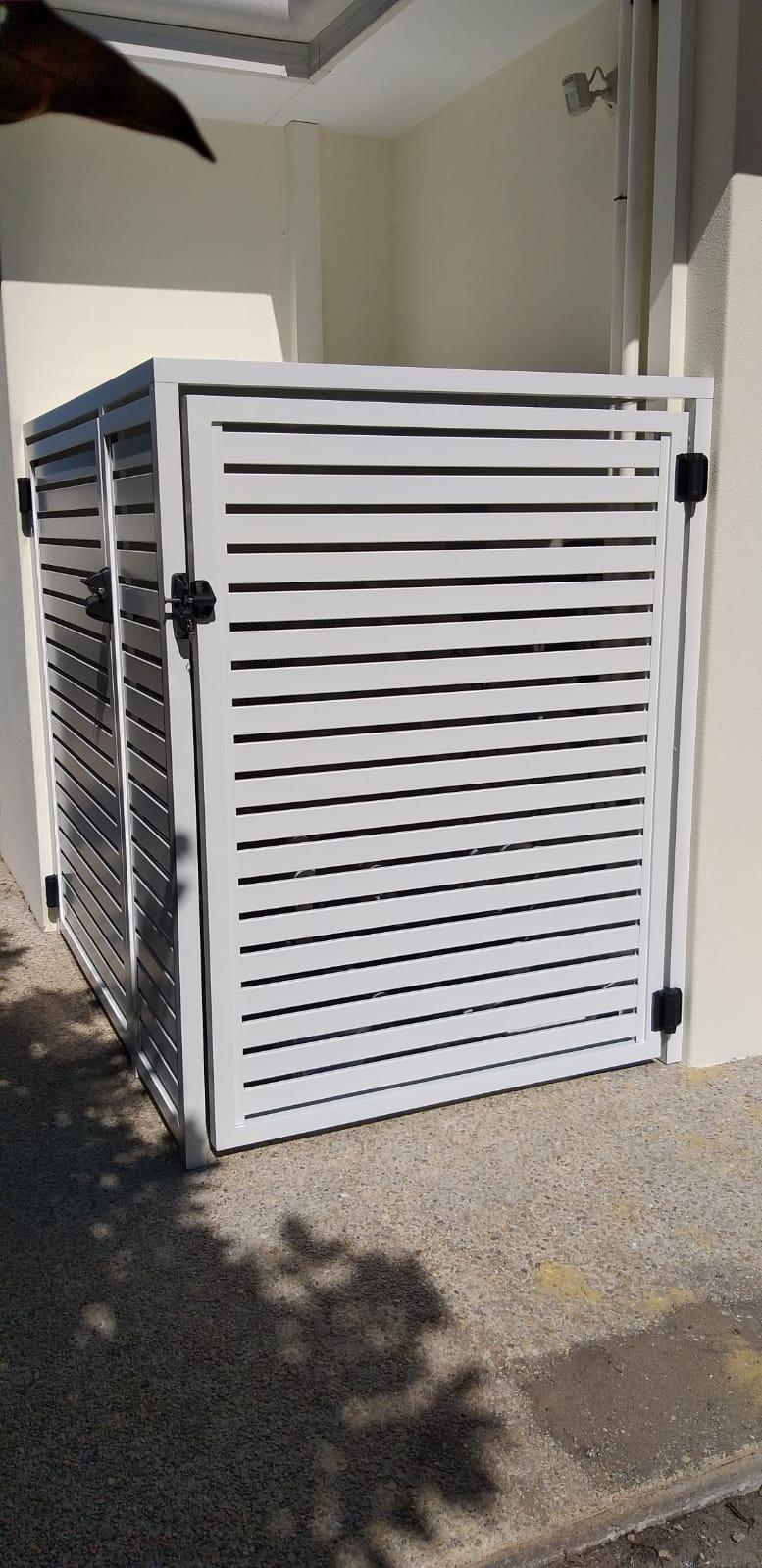 Pool pump and Aircon enclosure -closed